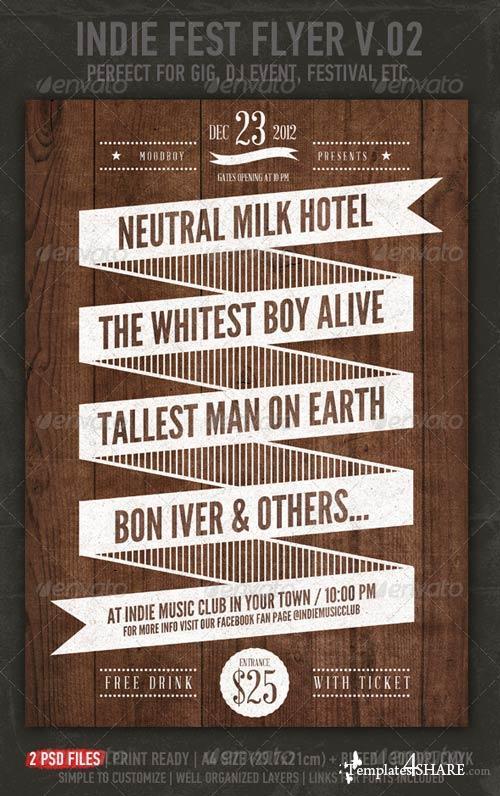 GraphicRiver Indie Fest V.02 Flyer / Poster