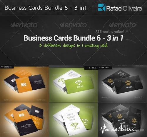 GraphicRiver Business Cards Bundle 6 - 3 in 1