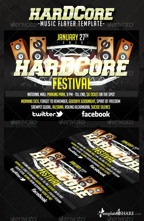 GraphicRiver Hardcore Music Flyer