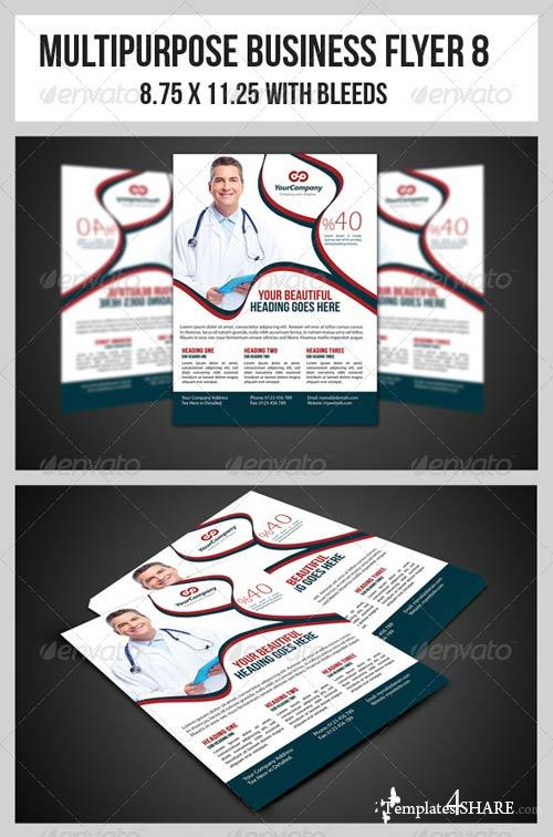 GraphicRiver Multipurpose Business Flyer 8