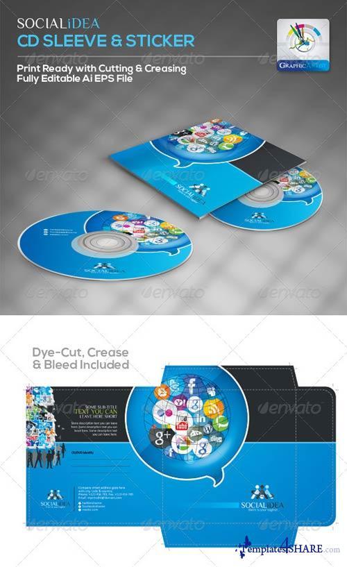 GraphicRiver Socialidea Creative Social Media CD Packaging