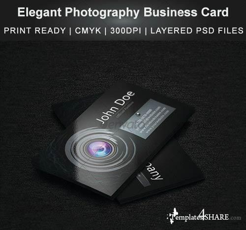 GraphicRiver Elegant Photography Business Card