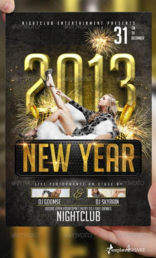 GraphicRiver 2013 New Year Flyer Template
