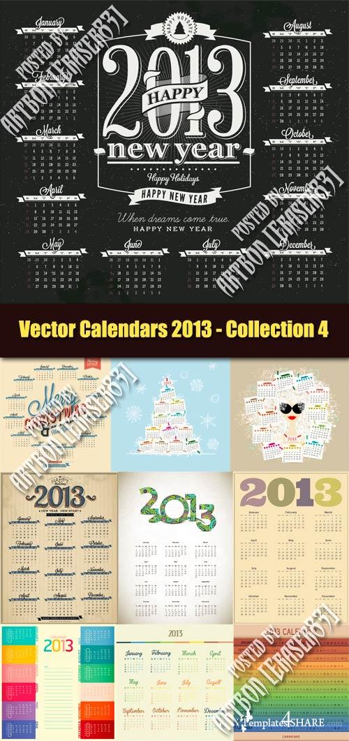 Vector Calendars 2013 - Collection 4
