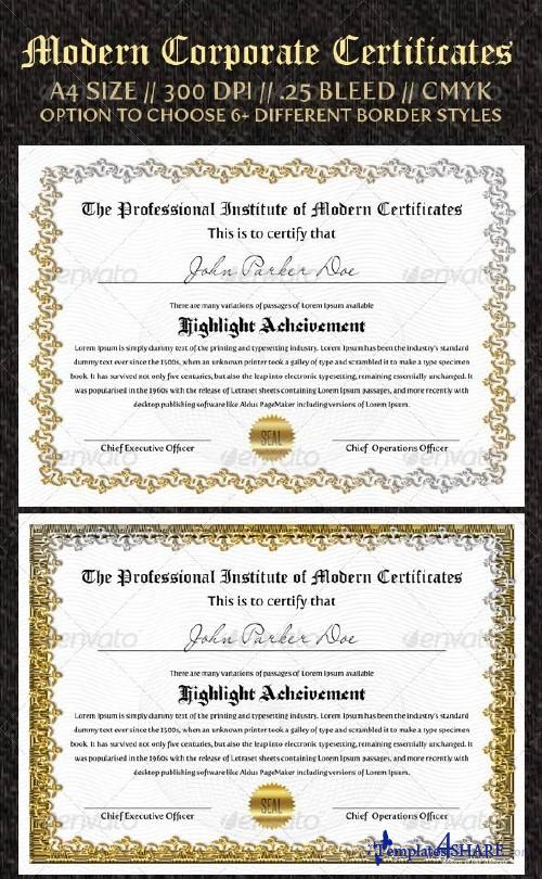GraphicRiver Corporate Certificates