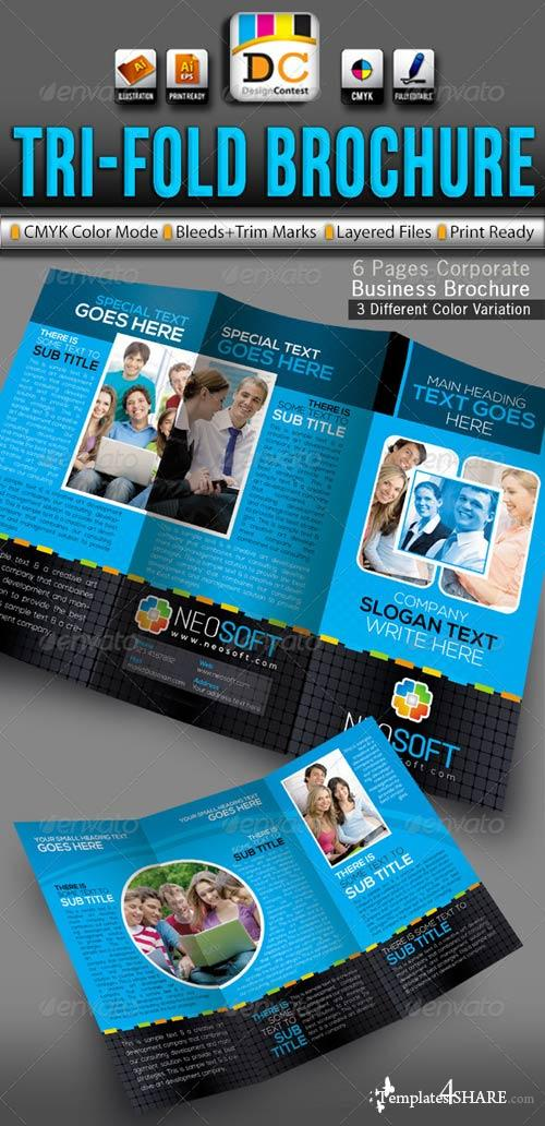 GraphicRiver NeoSoft Tri-fold Corporate Business Brochure