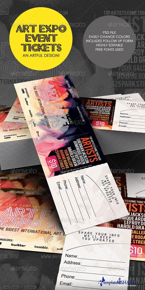 GraphicRiver Art Expo Art Show Event Tickets & Passes Template