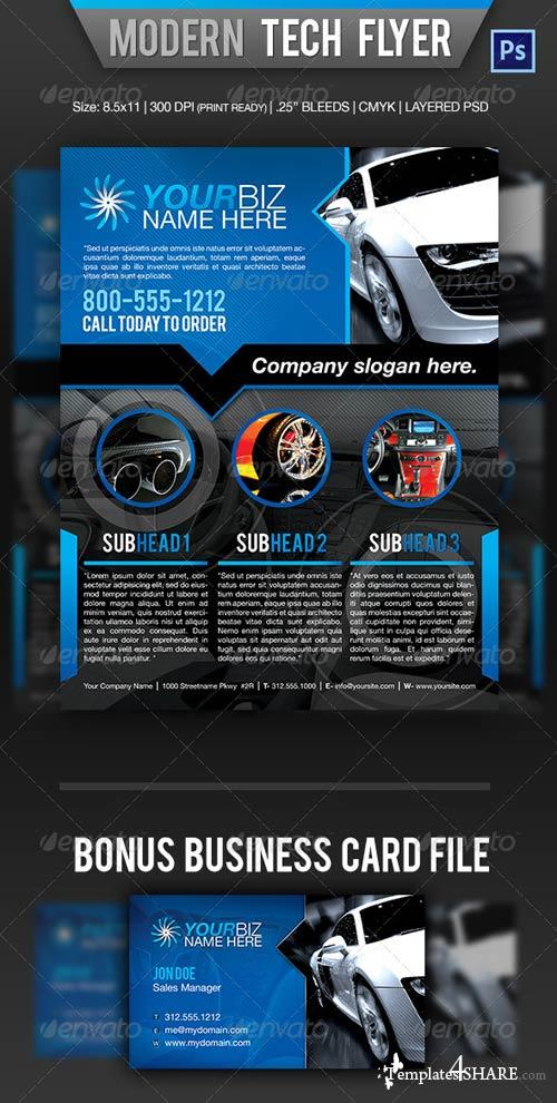 GraphicRiver Modern Tech Flyer