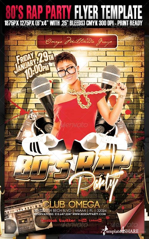 GraphicRiver 80's Rap Party