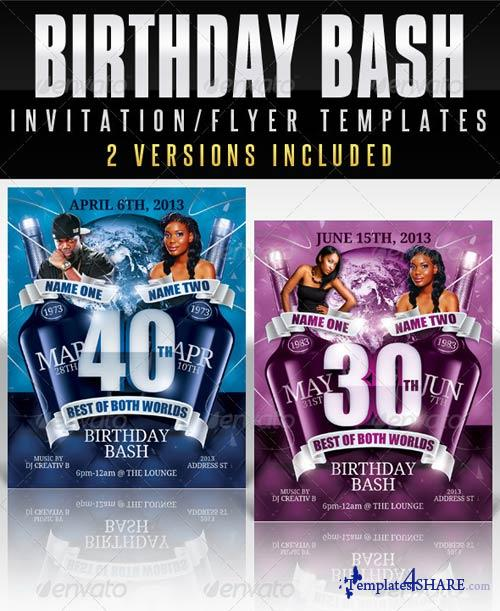 GraphicRiver Birthday Invitation Template - Best Of Both Worlds