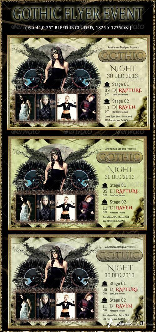 GraphicRiver Dark Gothic Flyer Event Template