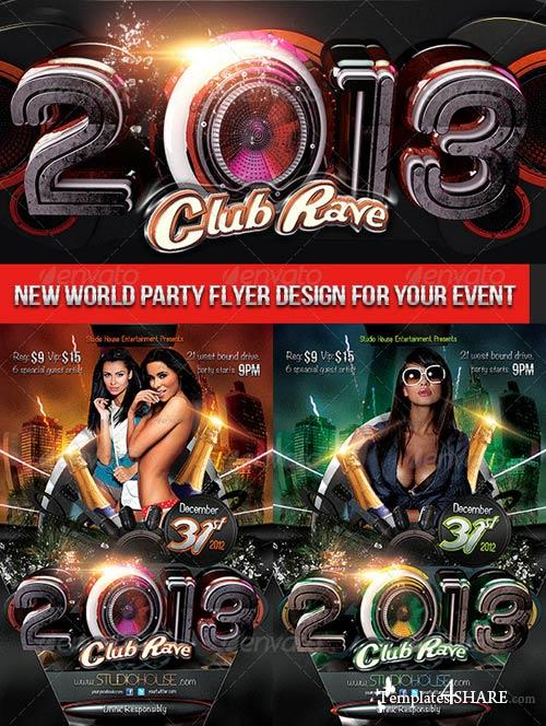 GraphicRiver 2013 Club Rave
