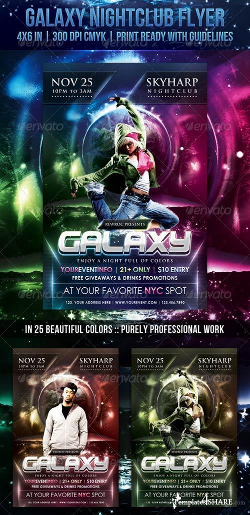 GraphicRiver Galaxy Nightclub Flyer