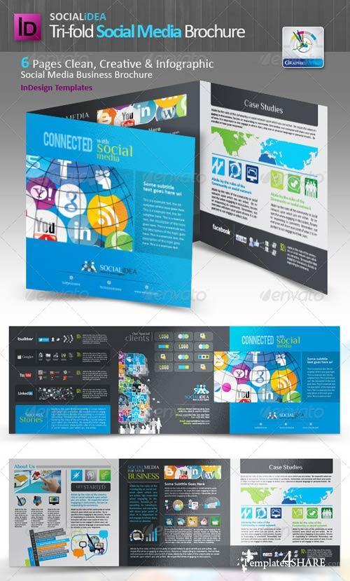 GraphicRiver Socialidea Tri-fold Social Media Brochure