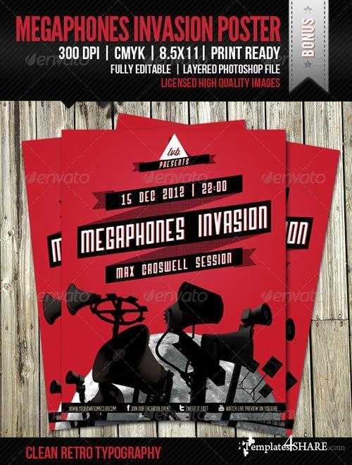 GraphicRiver Megaphones Invasion Poster