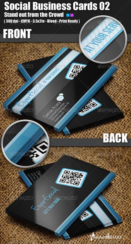 GraphicRiver Social Business Cards 02
