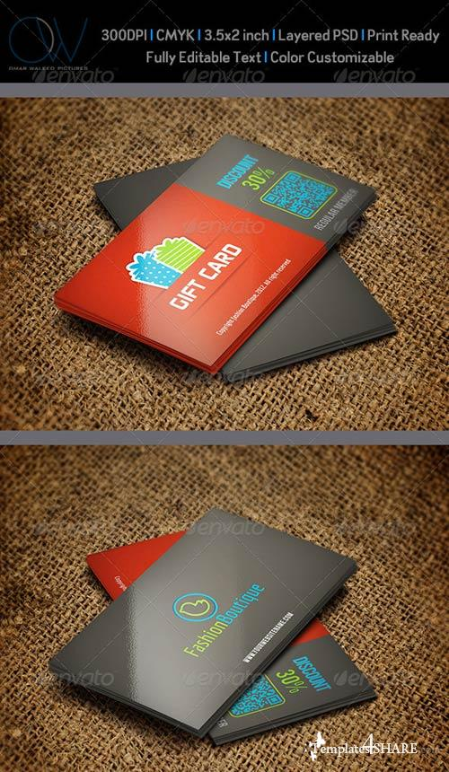 GraphicRiver Gift / Voucher Card Vol.1