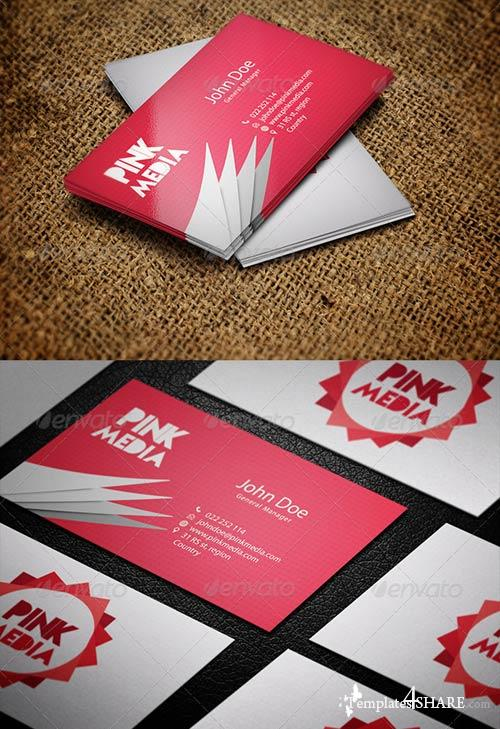 GraphicRiver Pink Media Business Card template