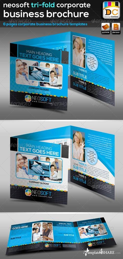 GraphicRiver NeoSoft Tri-fold Corporate Business Brochure_V-02