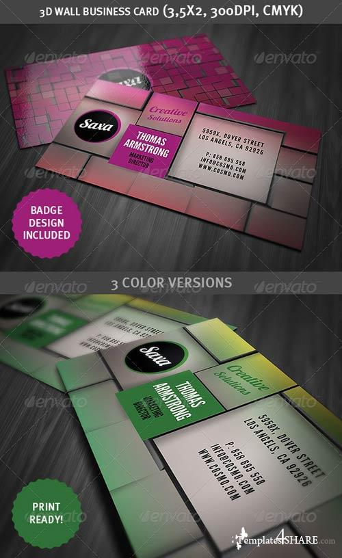 GraphicRiver 3D Wall Business Card
