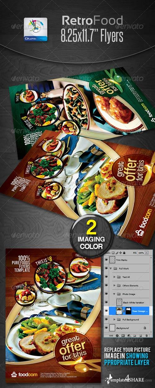 GraphicRiver Retro Restaurant Food Flyers
