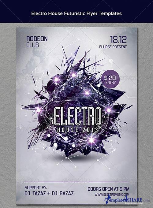 GraphicRiver Electro House Futuristic Party Flyer Templates