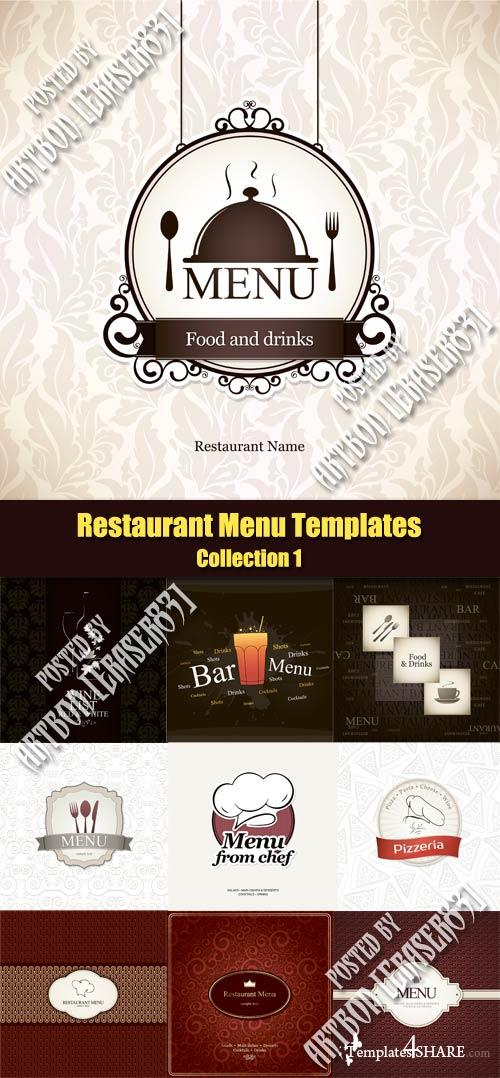 Vector Restaurant Menu Templates   Collection 1 Idea