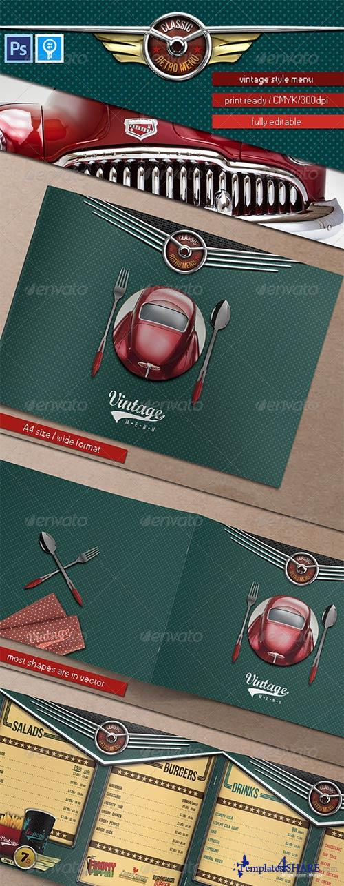 GraphicRiver Rockabilly Times Retro Menu