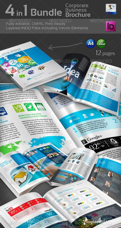 GraphicRiver 4 in 1 Bundle Bi-Fold Brochure
