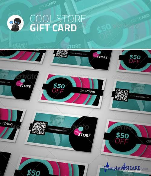 GraphicRiver Cool Store - Gift Card