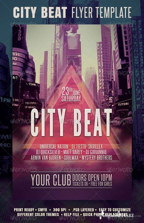 GraphicRiver City Beat Flyer