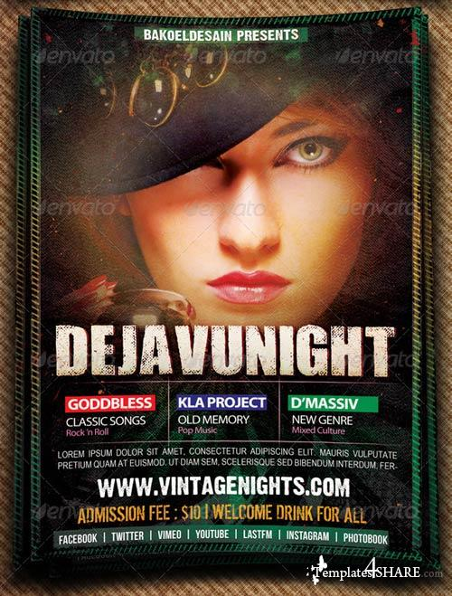 GraphicRiver Dejavu Night Music Flyer