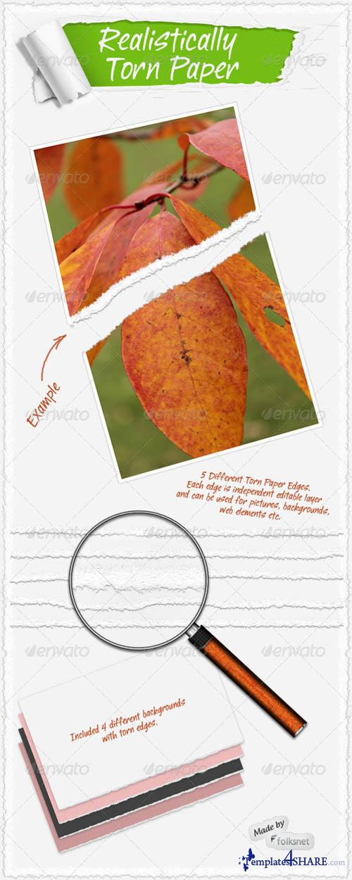 GraphicRiver Realistic Torn Paper Template