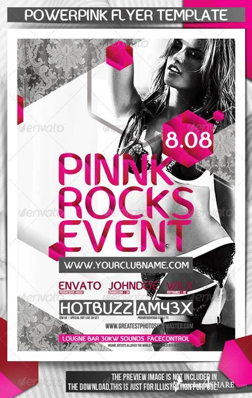 GraphicRiver Powerpink Party Flyer Template