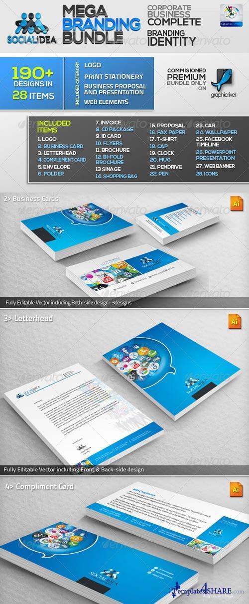 GraphicRiver Socialidea: Social Media ID Mega Branding Bundle