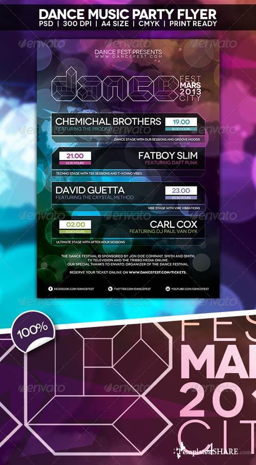 GraphicRiver Dance Music Party Flyer