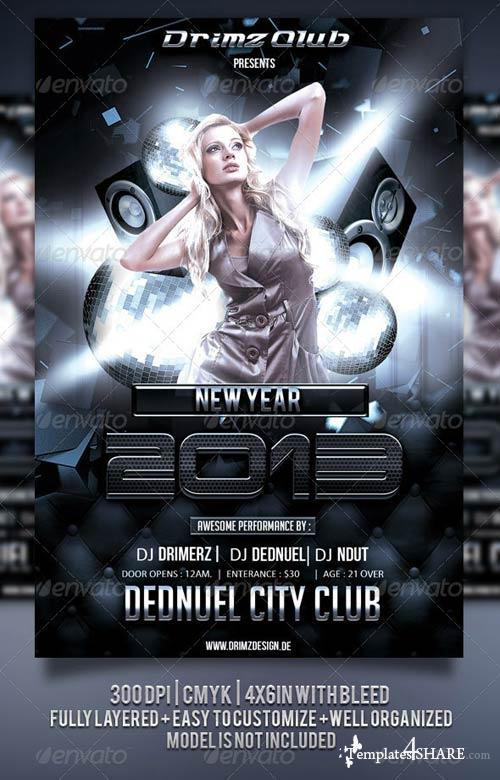 GraphicRiver Black Party Flyer