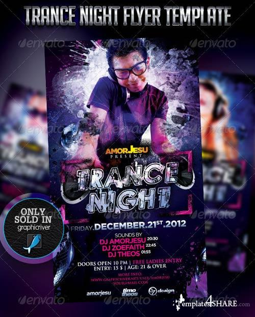 GraphicRiver Trance Night Flyer Template