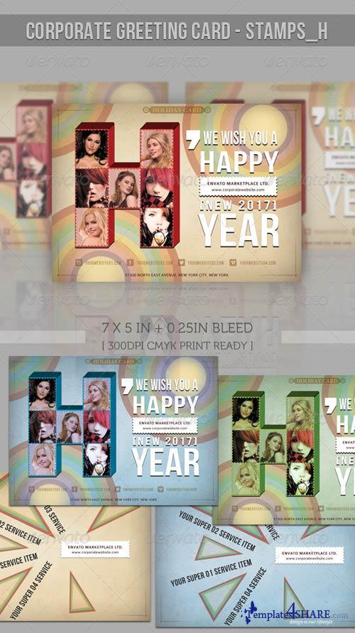 GraphicRiver Greeting Card - Stamp-H