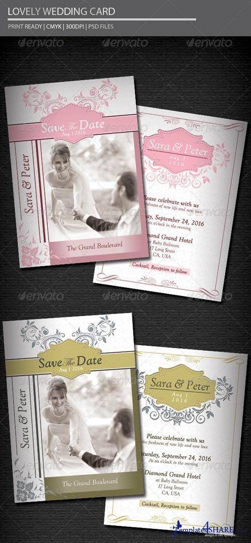 GraphicRiver Lovely Wedding Card