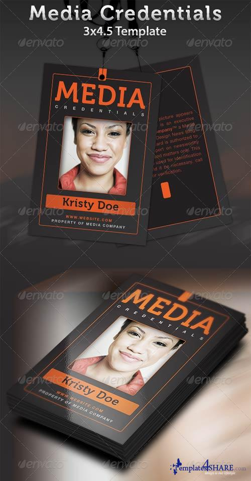 media pass template - graphicriver media credentials template templates4share