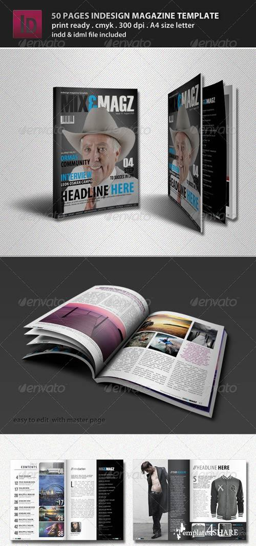 GraphicRiver 50 Pages Indesign Magazine Template