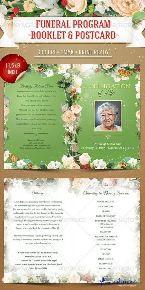 GraphicRiver Funeral Program Template - Booklet & Postcard