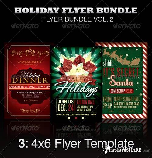 GraphicRiver Holiday Flyer Template Bundle