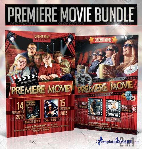 GraphicRiver Premiere Movie Flyer Bundle 2in1