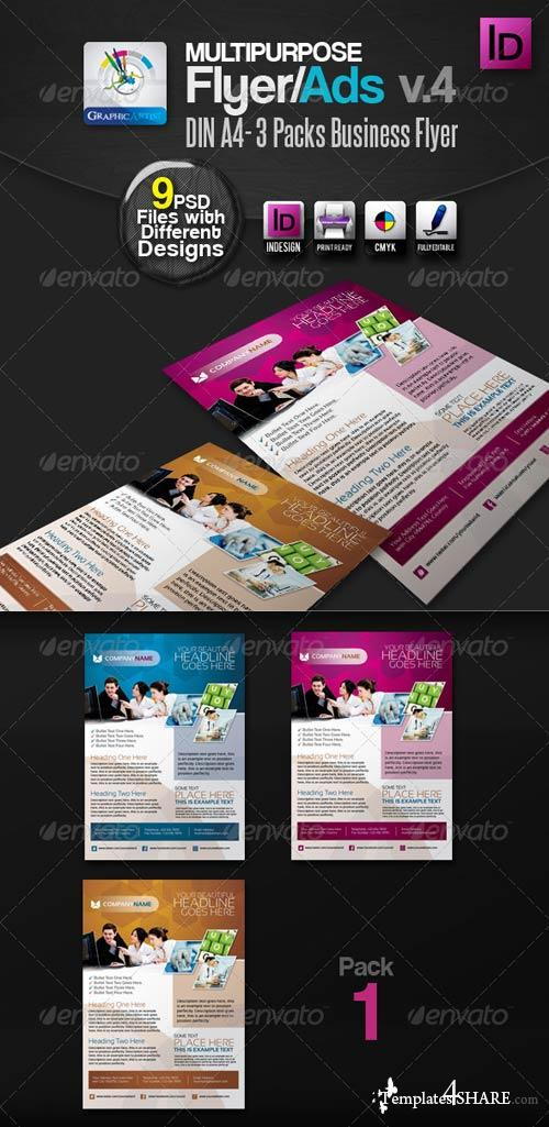 GraphicRiver Multipurpose InDesign Flyers/Ads Pack v.4