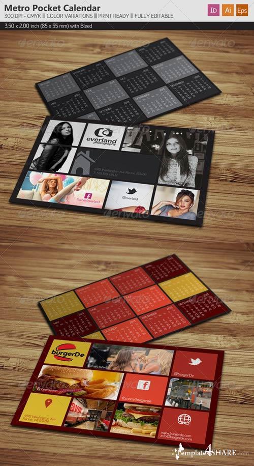 GraphicRiver Pocket Calendar 2013 - Metro Style