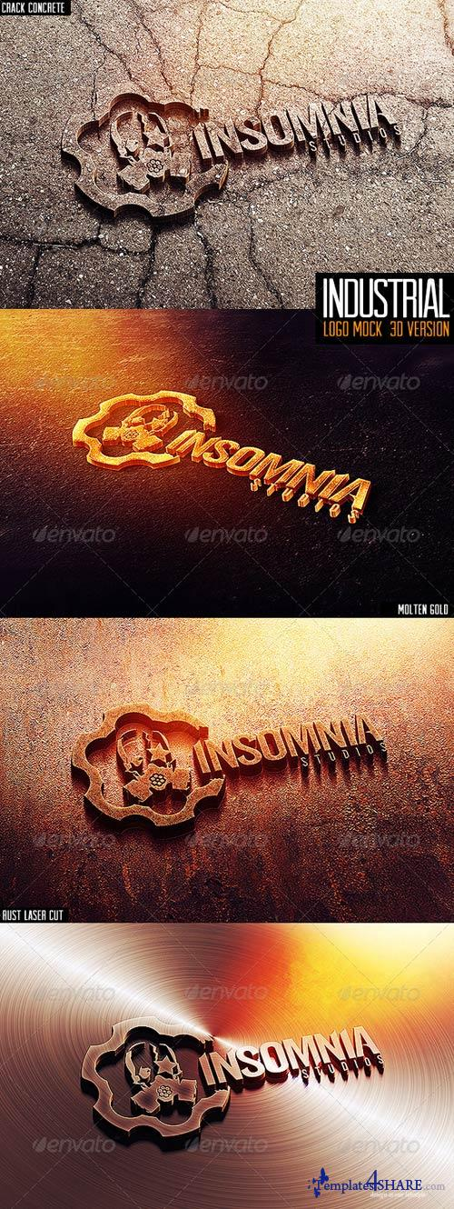 GraphicRiver Industrial Photorealistic 3D Logo Mock-Up