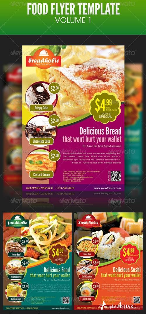 GraphicRiver Food Flyer Template Volume 1