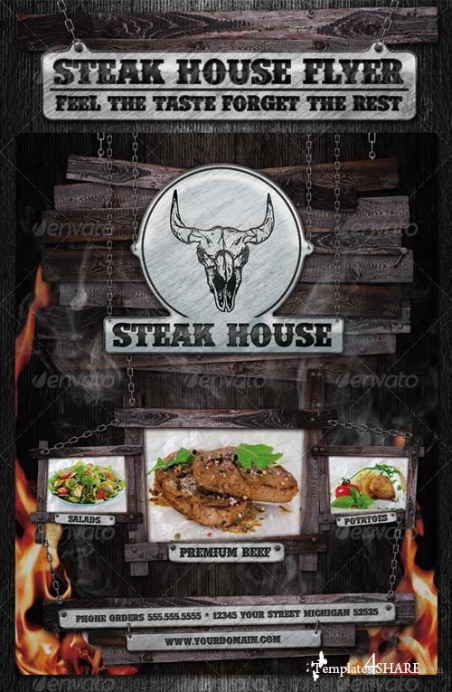 GraphicRiver Steak House Flyer Template